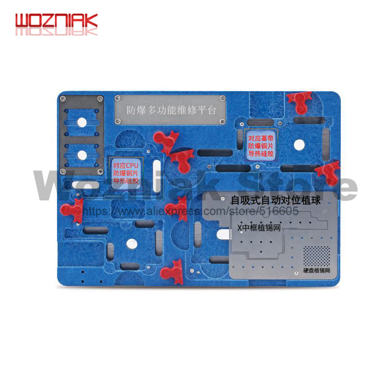 $28.31 | Wozniak Repair for Iphone X Main Board CPU A11 WIFI Baseband IC Remove Glue Cooling Protect tin Positioning Fixture Platform set