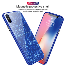 360 Full Protective Adsorption Case For iPhone 7 8 6 6s Plus XS Max  XR Flip Tempered Glass Ultra Magnet Phone Cover