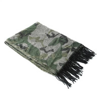 New Fashion Unisex Camouflage Printed Desigual Winter Scarfs With Tassels Army Green Cashmere Shawl Free Shipping