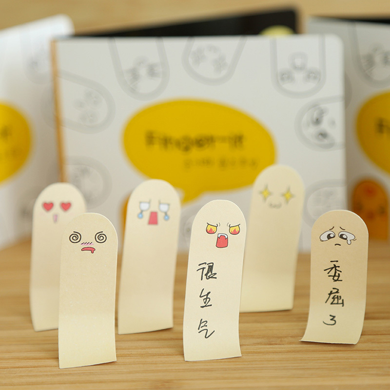 2017 Sale 200 Sheets/pcs Cute Face Memo Pad Paper Sticker Sticky Notes Post It Kawaii Stationery Papeleria School Supplies K7475