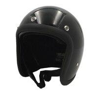 TT&CO vintage motorcycle helmet 4 color 3 snap double D Ring retor moto helmets for harley motorbike fiberglass shell helmets