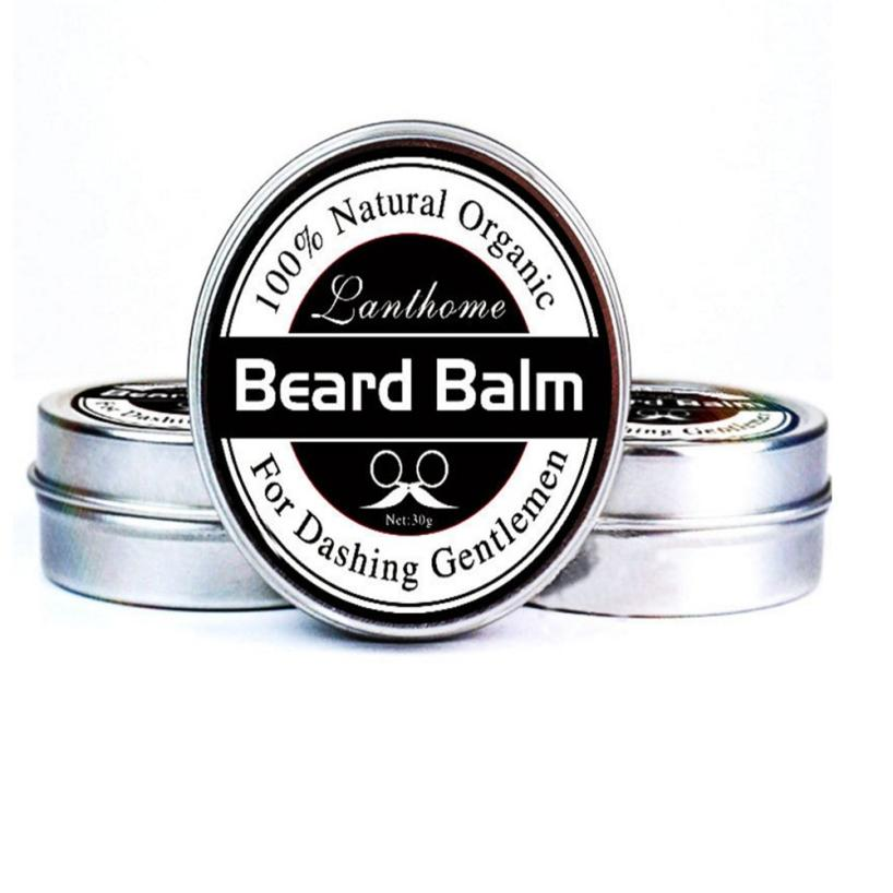 Men's Beard Care Cream Men Beard Balm Leave Moisturizing Care Cream Beard Care Lubricating Cream 30g Drop Shipping 18jul17