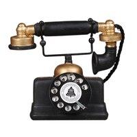 뜨거운 판매 산업 로프트 복고풍 로타리 전화 모델 공예 장식