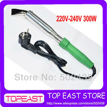 Free shipping Popular Solder Tool 2 Round pin plug Europ plug Heat Soldering Iron 220V-240v - 300w High Quality