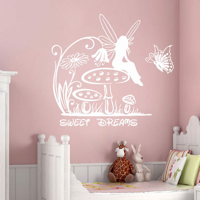 Fairy Wall Decals Princess Stickers Sweet Dreams Vinyl Sticker Girl Nursery  Pretty Decor New Baby Rooms
