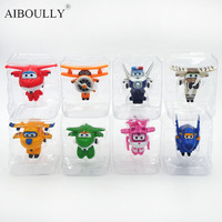 8 Style Korean Anime Super Wings Model Mini Planes toy Transformation Airplane Robot Action Figures Children Gift wings toy
