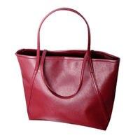 5 stks van eenvoudige lederen vrouwen toegenomen Messenger Bags Boodschappentas Nieuwe Kleur: Rood