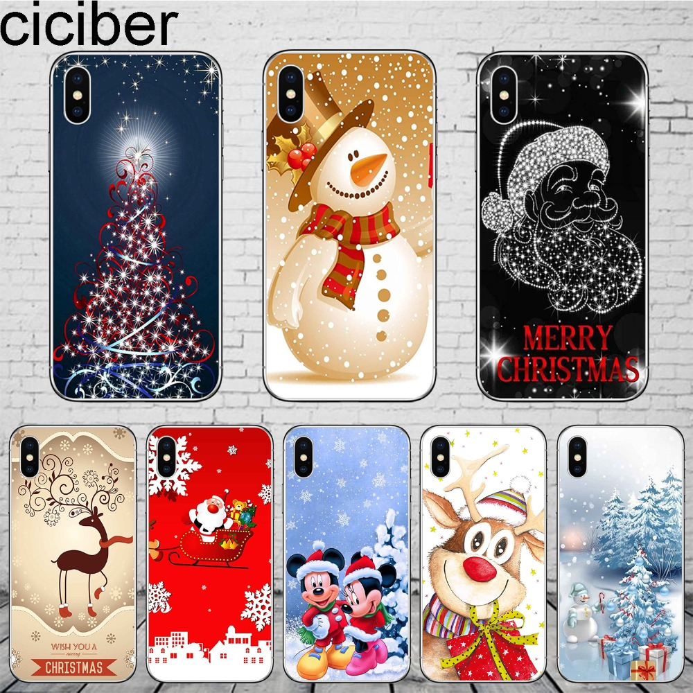 Christmas Phone Case Iphone Xr.Happy New Year Merry Christmas Phone Case Cover For Apple Iphone 7 8 Plus X Xr Xs Max 6s 5 5s Soft Silicone Tpu Fundas