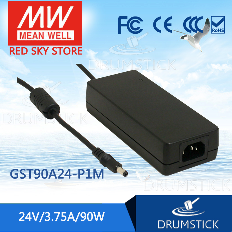 (Only 11.11)MEAN WELL GST90A24-P1M (5Pcs) 24V 3.75A meanwell GST90A 24V 90W AC-DC High Reliability Industrial Adaptor hot sale mean well gs90a24 p1m 24v 3 75a meanwell gs90a 24v 90w ac dc industrial adaptor