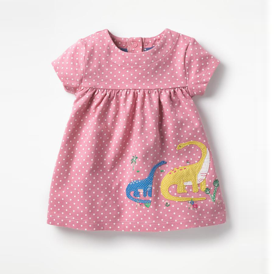 New baby girls cartoon dresses hot selling kids summer clothing with applique two cute dinosaurs girls new style princess dress hot selling baby girls cartoon dresses with printed some dinosaurs kids new designed autumn clothing top quality girls dresses