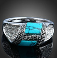 New Vintage Turquoise Rings For women Striking High Quality Jewelry Hotsale