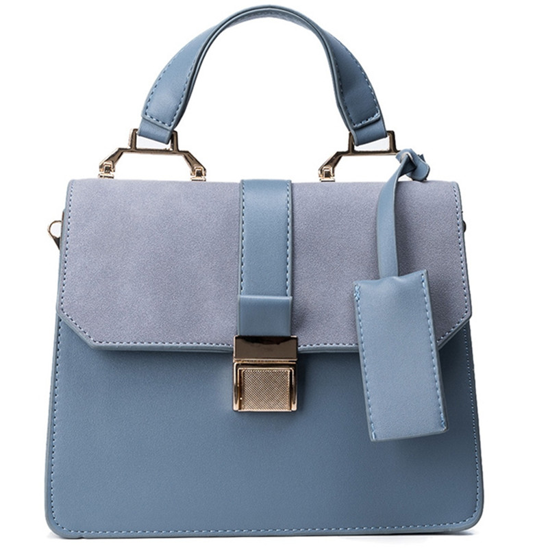 Luxury Brand Fashion Female Shoulder Bag Nubuck Leather Women Blue Tote Handbag Vintage Messenger Bag Satchel Crossbody Bags Sac kai yunon women girl shoulder bag faux leather satchel crossbody tote handbag aug 24