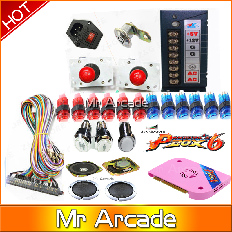 HOT SALE Pandora Box 6 1300 in 1 arcade Version CGA HDMI VGA arcade kit