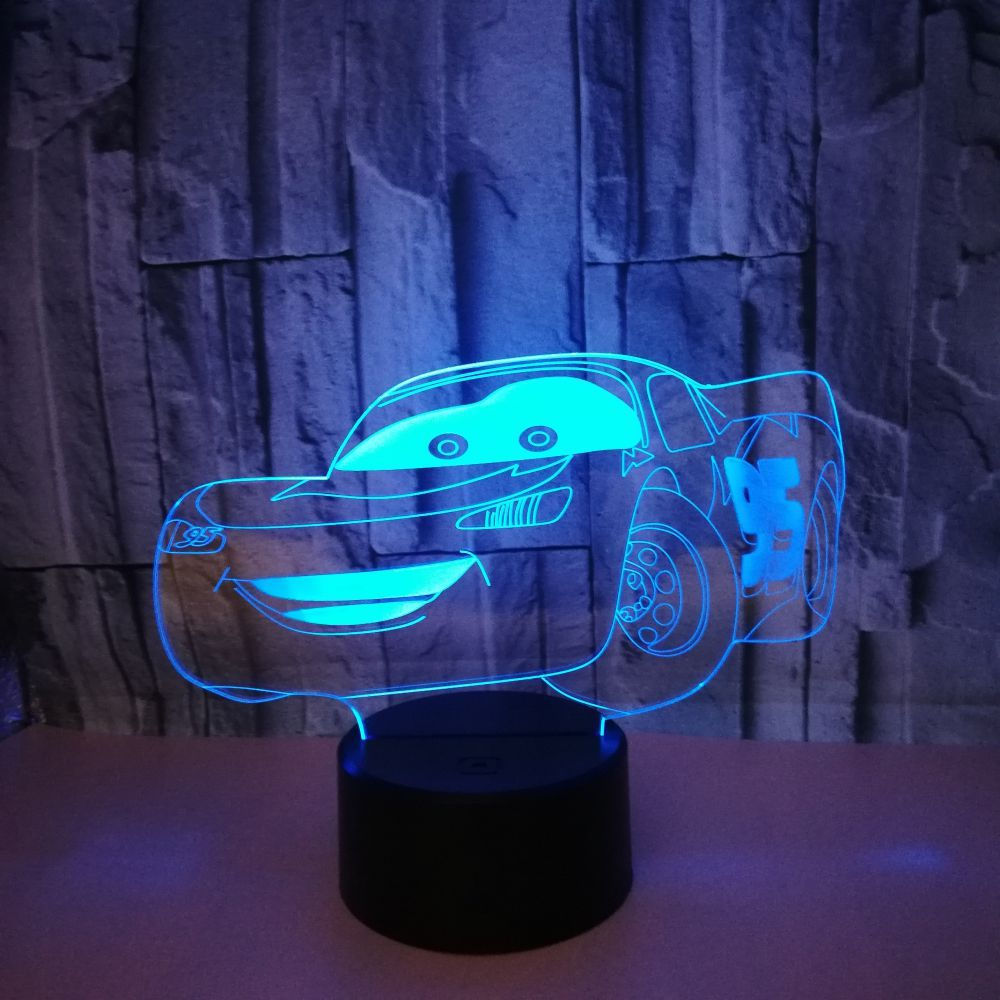 New Sports Car 3d Lamp 7 color change 3d Light Fixtures Touch Remote 3d Led Small Led Night Light Kids Lamp