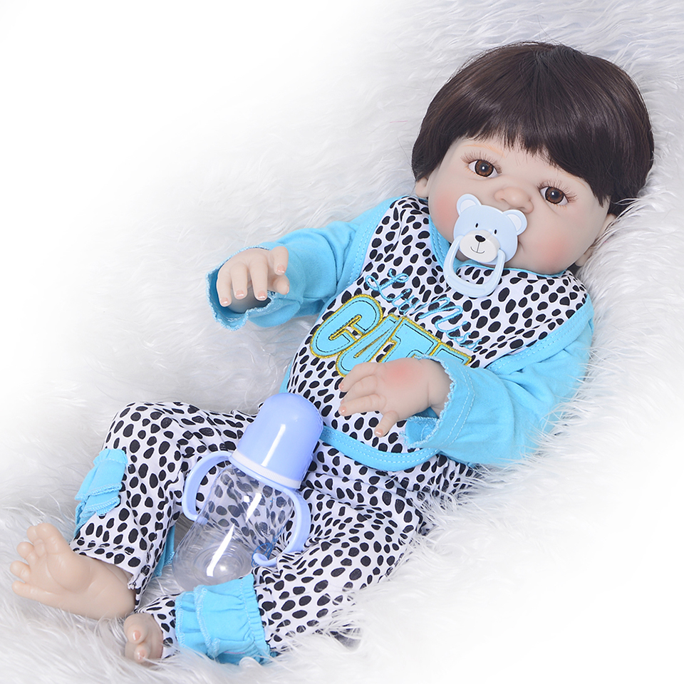 Truly CUTE 57 cm Full Silicone Reborn Vinyl Body Dolls Girl Model 23'' Realistic New Born Baby Dolls Reborn Kids Christmas Gifts клод изнер мумия из бютт о кай page 8
