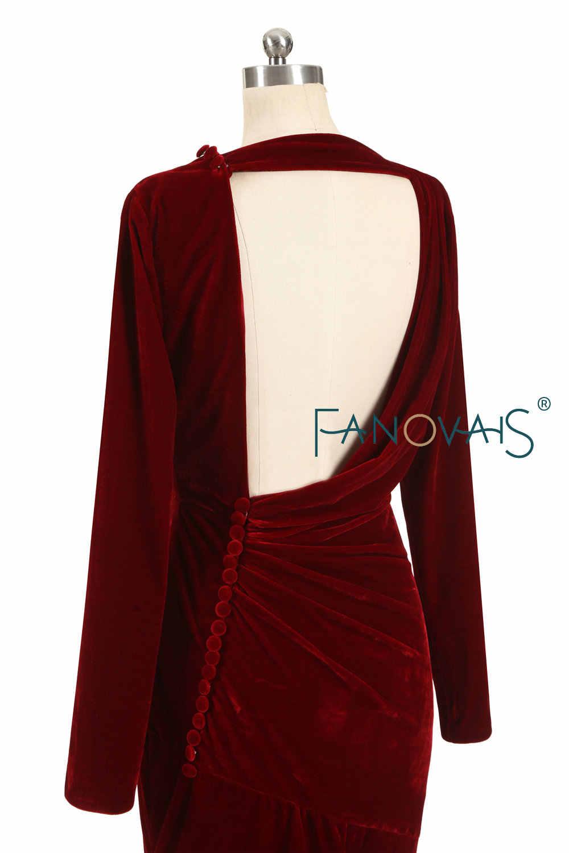 ... Мужские вечерние Бархатные костюмы бордового цвета платья одежда с  длинным рукавом длинное вечернее платье 2019 платье ... 6a0bee5837359