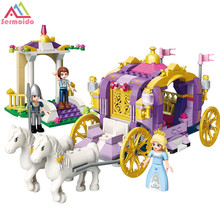 sermoido Princess Cinderellas Carriage Building Blocks Set Assemble Toys Compatible With Legoings