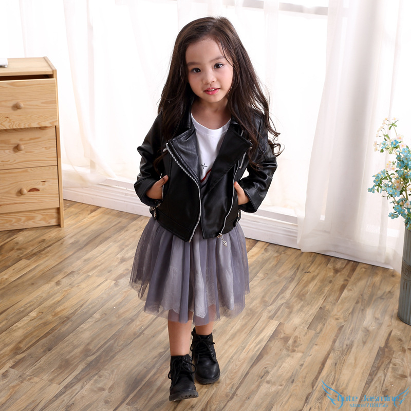Popular Children Girls Black Leather Jacket-Buy Cheap Children ...