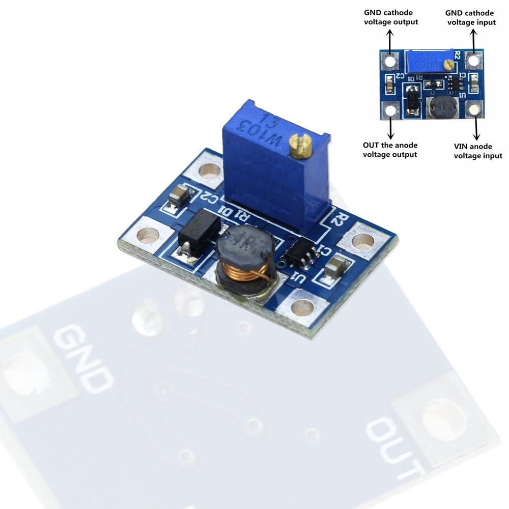 2-24V to 2-28V 2A DC-DC SX1308 Step-UP Adjustable Power Module Step Up Boost Converter for DIY Kit2-24V to 2-28V 2A DC-DC SX1308 Step-UP Adjustable Power Module Step Up Boost Converter for DIY Kit
