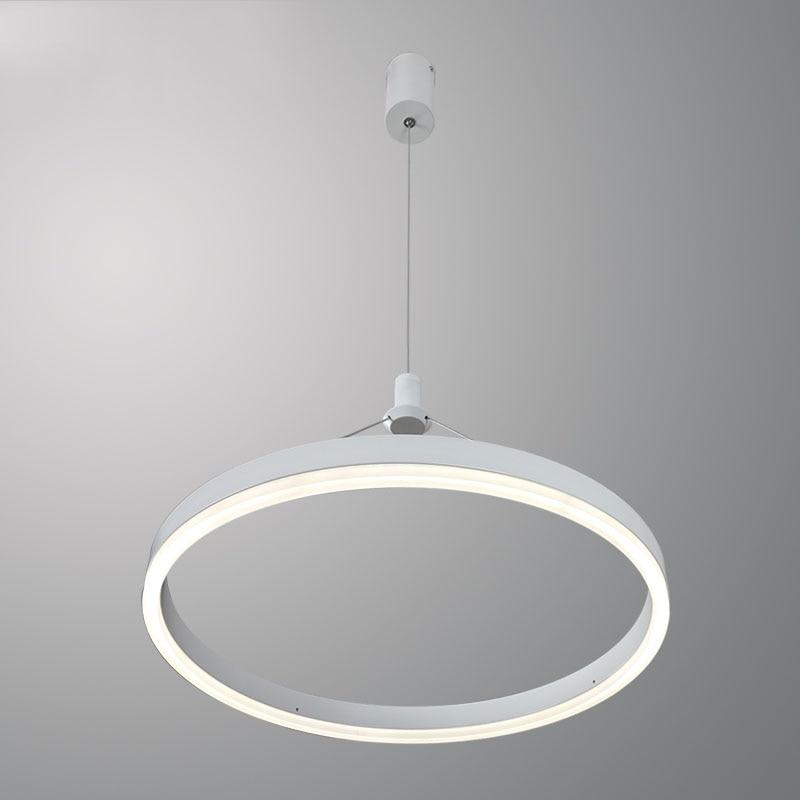 Modern Circle White LED Pendant Light Simple Slim Ring Ceiling Suspension Lamp Living Room Dining Room Lustre Acrylic Hanglamp