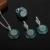 HENSEN Vintage Banhado A Prata Jóias Turca Definir Forma Redonda Natural Pedra Azul Turquesa Conjuntos de Jóias Para Mulheres Presente