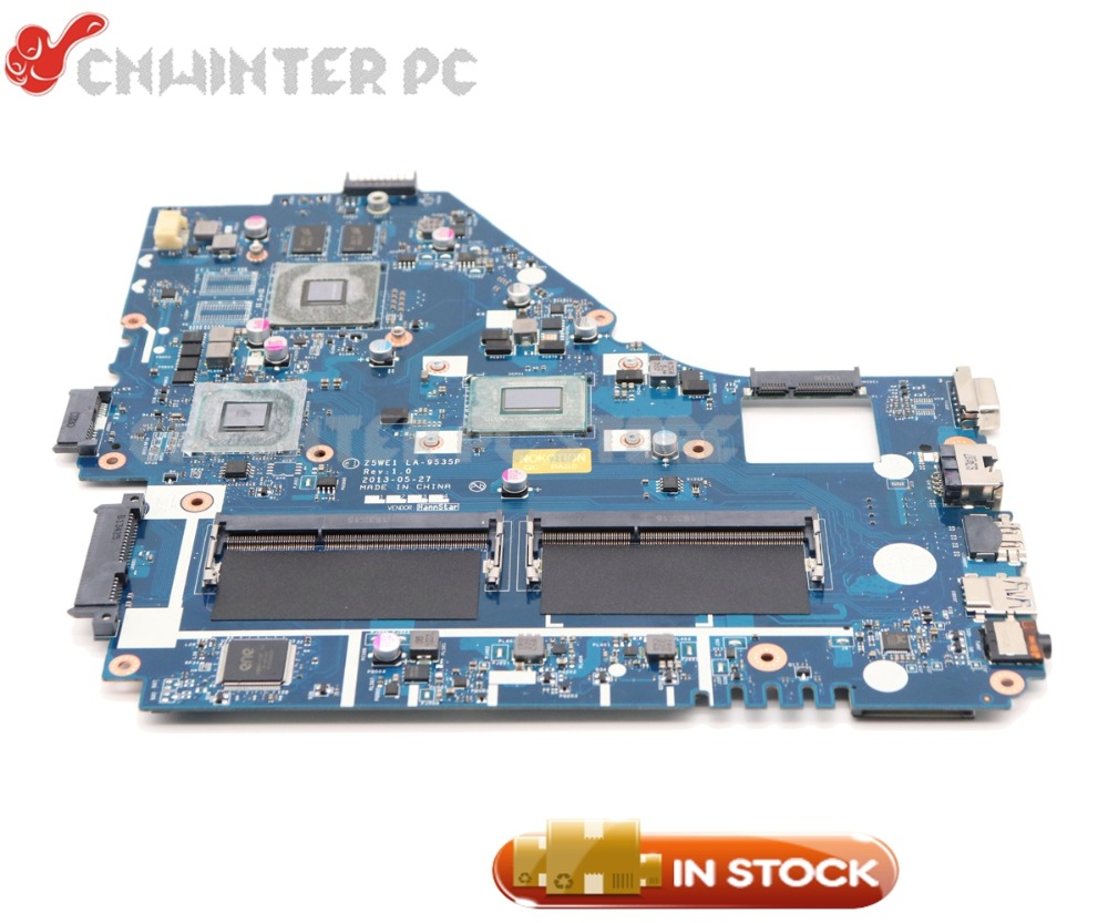 NOKOTION <font><b>Z5WE1</b></font> LA-9535P NBMER11001 Laptop <font><b>Motherboard</b></font> For <font><b>Acer</b></font> aspire <font><b>E1</b></font>-570 <font><b>E1</b></font>-570G MAIN BOARD I5-3337U CPU DDR3 image