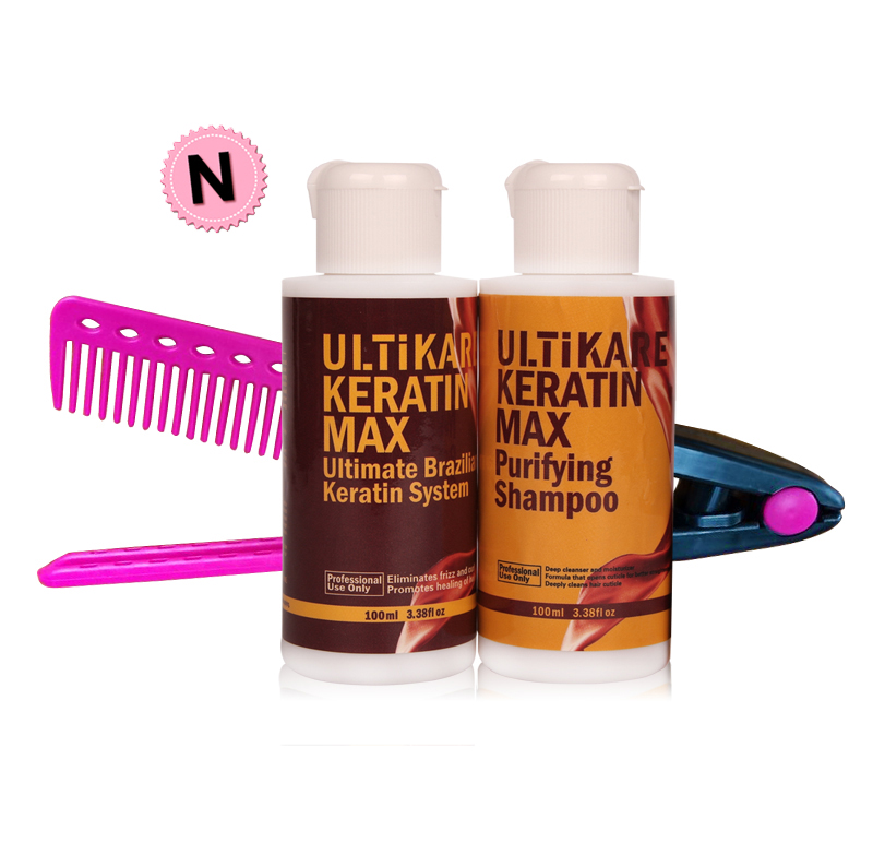 Cheapest Professional Set 100ml Keratin Hair Treatment Straighten Damaged Hair+100ml Purifying Shampoo with Small Free Red CombCheapest Professional Set 100ml Keratin Hair Treatment Straighten Damaged Hair+100ml Purifying Shampoo with Small Free Red Comb