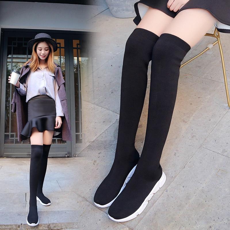 Luxury Brand Socks Boots Women Over The
