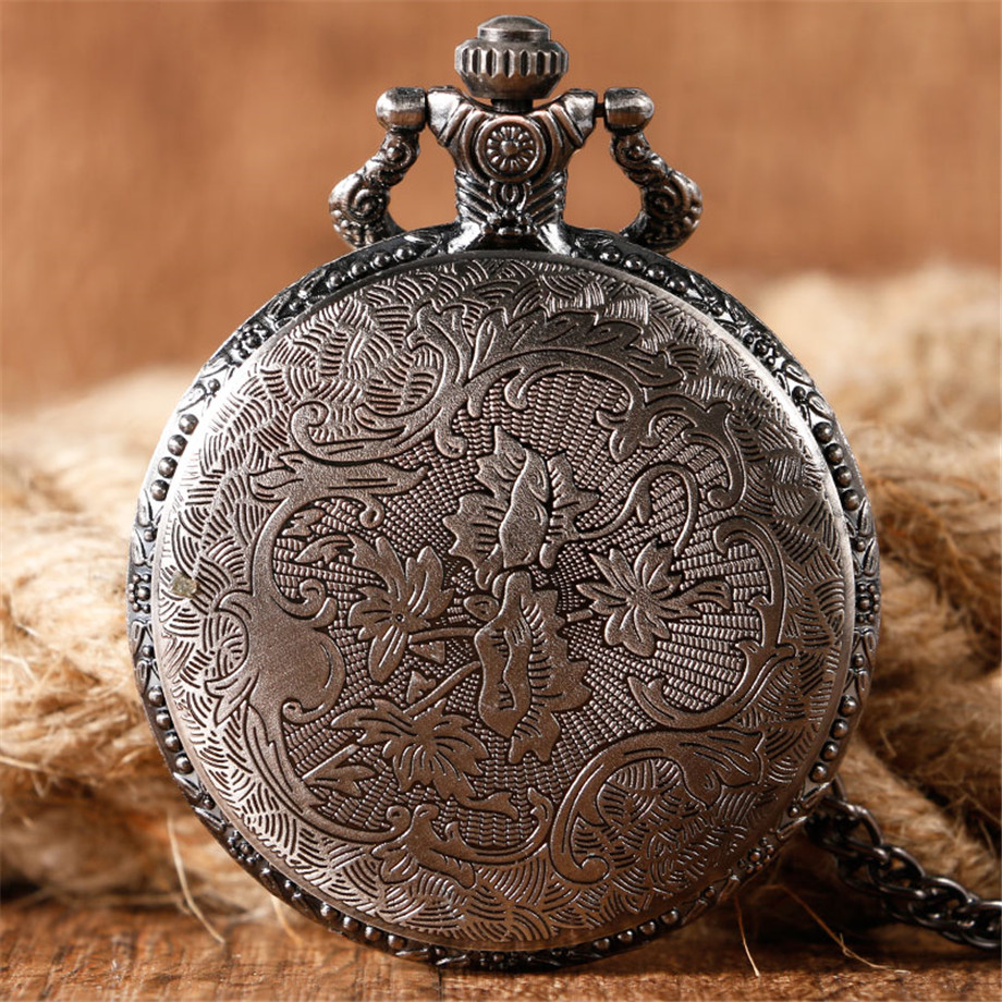 2017 Hot Necklace Watches Gray Tone Honorable Stark House Wolf Quartz Pocket Watch Pendant Game of Thrones Theme Long Chain  (9)