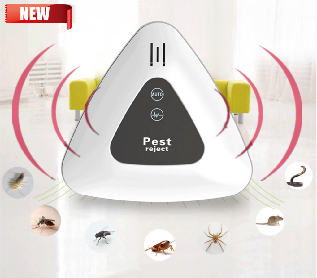 50% Off White Pest Anti Insect Ultrasonic Reject 160 Square Meters Of Coverage Pest Repeller Electronic Mouse Fly Killer
