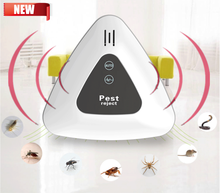 50% de descuento en plagas blancas Anti insectos ultrasonido rechazar 160 metros cuadrados de cobertura repelente de plagas ratón electrónico Fly Killer