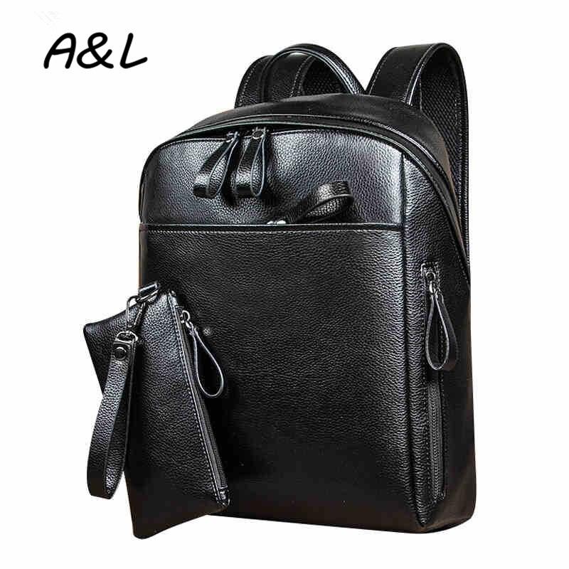 9af1a3bb20b1 Новые Винтаж масло воск кожа Для мужчин рюкзак Бизнес элегантный дизайн  школы Рюкзаки подростков ноутбука, дорожная сумка Mochila a0182