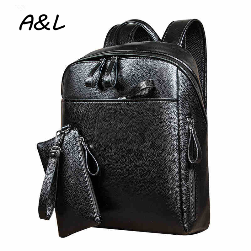 Newest Vintage oil wax Leather Men Backpack Business Preppy Style School Backpacks Teenagers Travel Bag Laptop Bag Mochila A0182