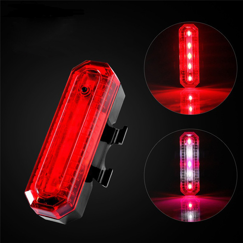 Bicycle Light LED Front Bicycle Bike Cycling Rear Tail Light Rechargeable USB 4 Modes bike Waterproof safety warn light #2g27 (9)