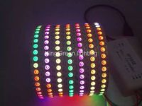 2mX Hot sales WS2813 digital 5050SMD RGB led strip light 144LED/m white and black PCB available free shipping