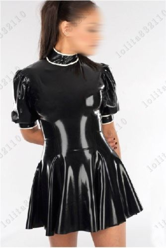 Latex Rubber Gummi Dresses One-piece full-skirted catsuit customized 0.4mm