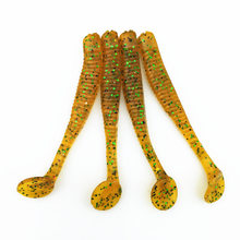 WDAIREN 10 Pcs/Lot 7.5cm 3g Soft Worm Fishing Lures 7 colors optional Artificial silicone T Tail  Bait Lifelike Swimbaits FA-402