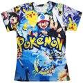 Nova moda 3D t camisa totalmente 90 s Pokemon Picacho t-shirt mulheres homens camisetas verão t shirtsFree compras