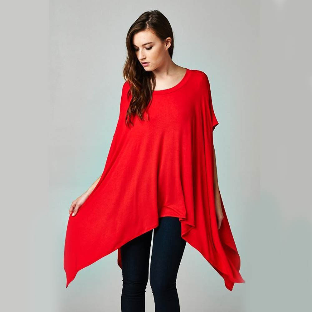 2016 Hot Designer Women Summer Batwing Sleeve Casual Solid