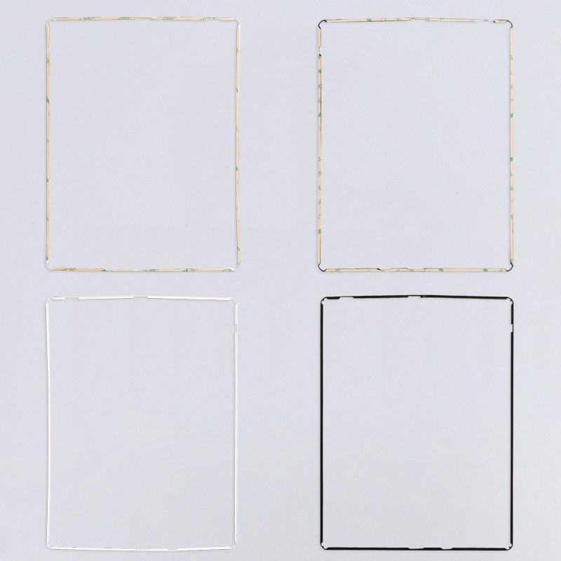 imágenes para 100 unids lcd marco medio para ipad 2 3 4 medio del bisel del digitizador de la pantalla táctil con la etiqueta engomada adhesiva libre de seguimiento