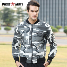 FreeArmy New Fashion Jacket Men Clothes Camouflage Military Jackets and Coats Man Slim Outerwear Hip Hop Bomber Jacket Camo Male