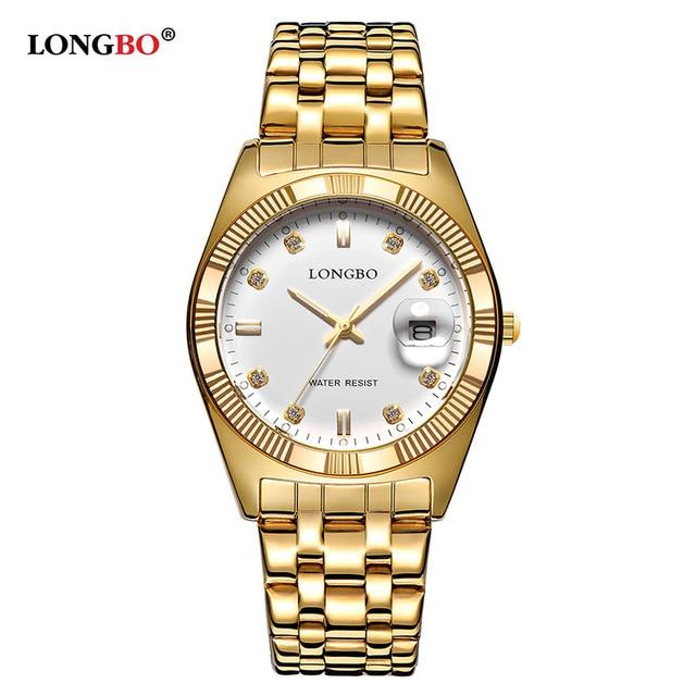 2018 LONGBO Fashion Men Women Business Watches Luxury Calendar Lovers