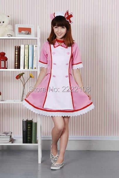 d6afc08790fad ... 2018 New Anime Vocaloid 2 Ren/Rin Hatsune Miku Cosplay Costume Nurse  Dress Uniform Set ...
