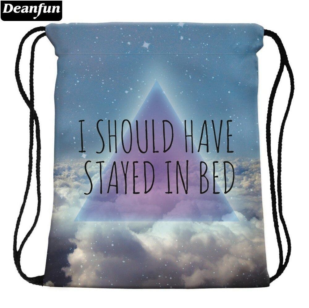Deanfun 3D Printing Drawstring Bags Cloud Cute Gift Girls School Bags 30596 #