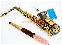 New musical instruments E-flat sax professional Alto Saxophone Black nickel alto sax black pearl sax Free Shipping