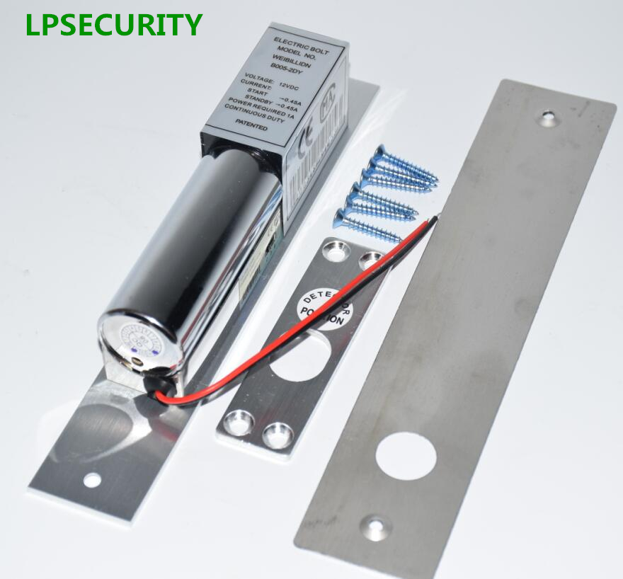 LPSECURITY Low Temperature Electric Bolt Lock 2-Lines DC 12V Heavy Duty Fail Safe Drop Gate Door Access Control Security System