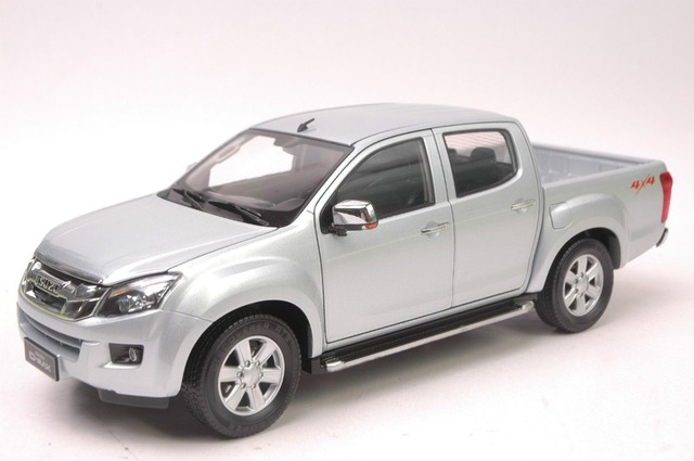 1 18 Scale Diecast Model Car For Isuzu D Max Pickup Silver Alloy Toy