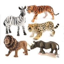 Simulation forest wild zoo plastic animals figure model large tiger lion zebra furnishings animal ChildrenToys