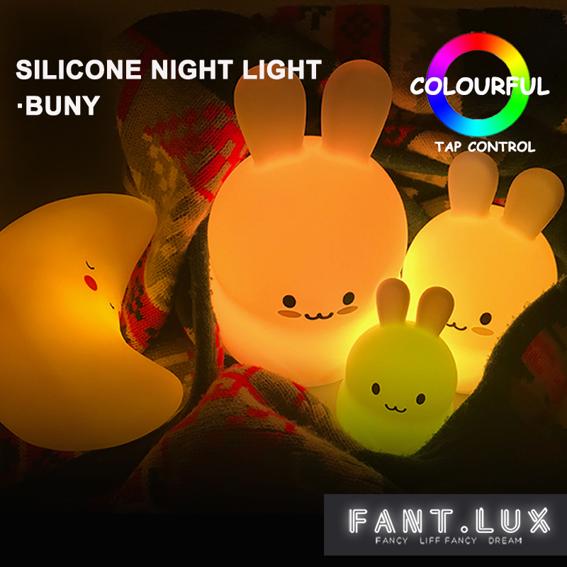 Bunny led Night Light Cute Silicone Baby Nursery Lamp Battery Powered Bunny Tap Control Soft Touch Safe Material for Baby 2015 new upgrade q999s professional photography portable aluminum ball head tripod to monopod for canon nikon sony dslr camera