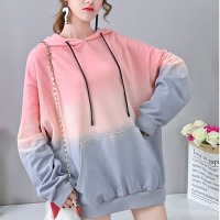 Korean Style Long Sleeve Oversize Hoody Sweatshirts Women Purple Pink Clothing Fall Harajuku Pink Hoodie Sweatshirt Clothes tops